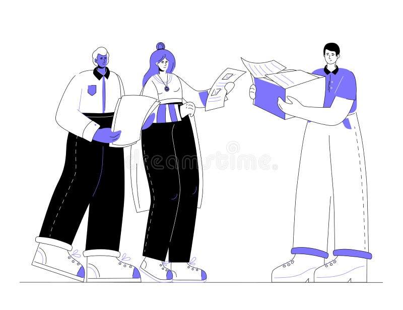 Zadania zarządzanie - nowożytnego płaskiego projekta stylu kolorowa ilustracja ilustracja wektor