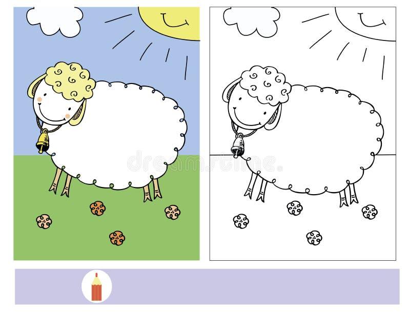 Zadanie dla dzieci z kolorystyką cakle royalty ilustracja