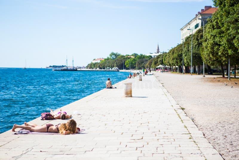 zadar的克罗地亚 免版税库存照片