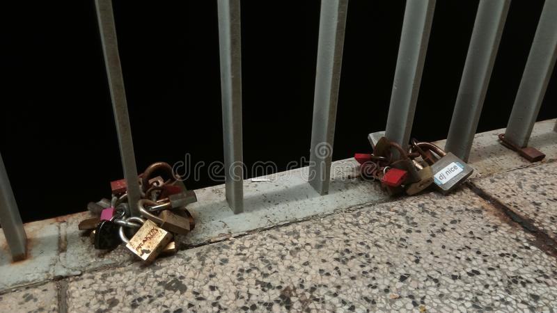 Zadar, κλειδωμένη αγάπη στοκ φωτογραφίες με δικαίωμα ελεύθερης χρήσης