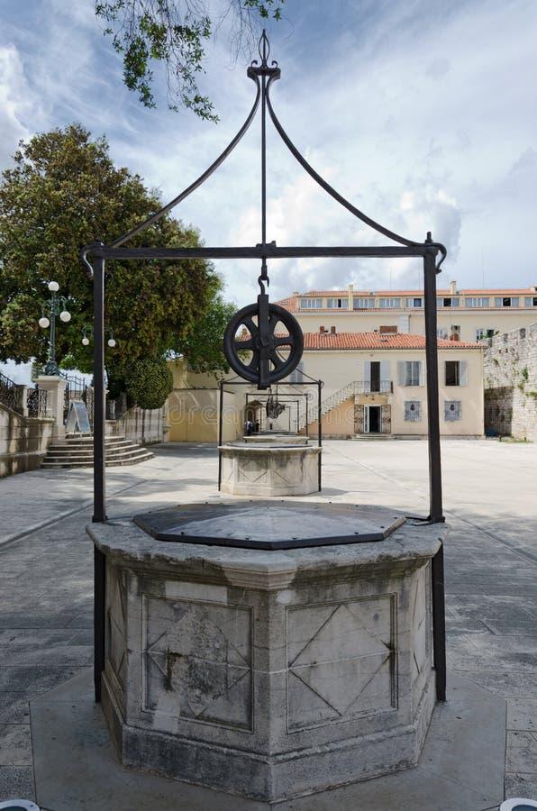 Zadar. Cinq Wells images libres de droits