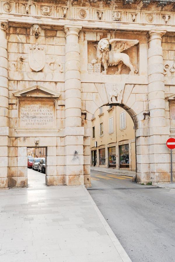 Zadar city gates royalty free stock image