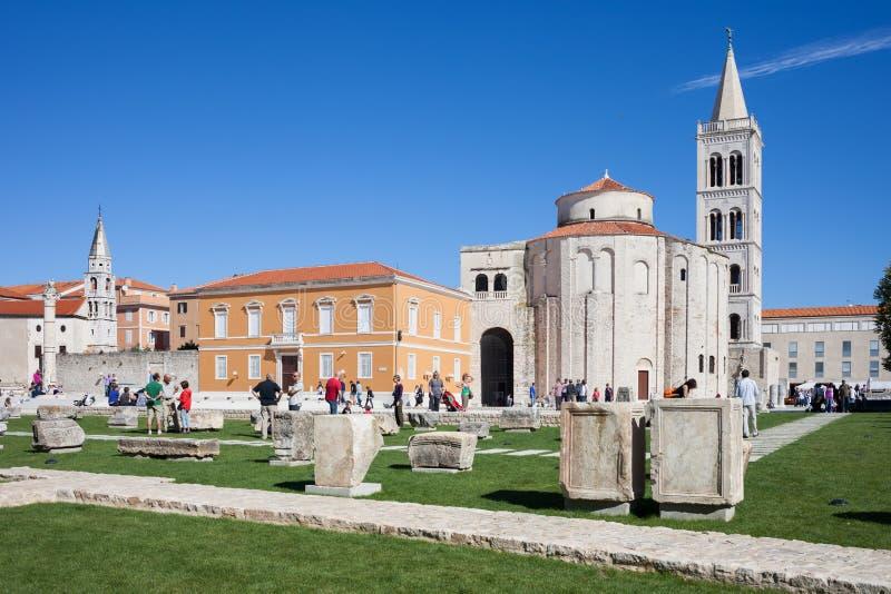 Old Town of Zadar in Croatia royalty free stock photo