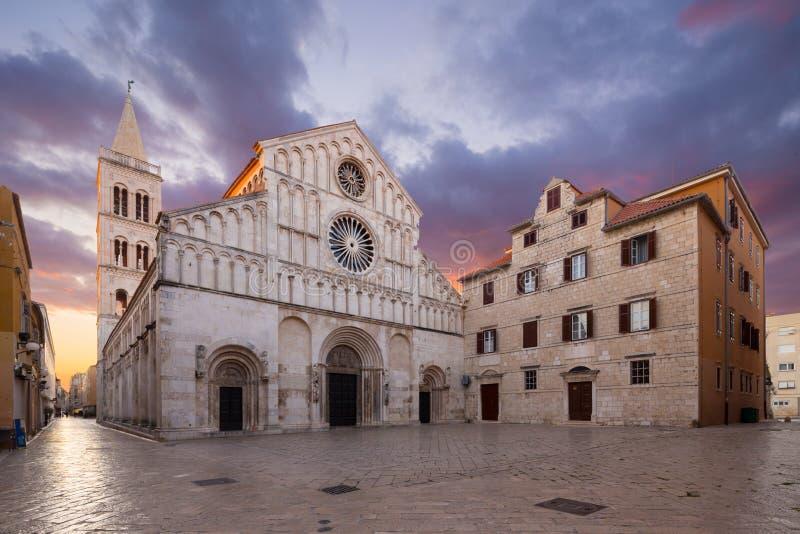 Zadar, Croatia. St.Anastasia cathedral in Zadar, Croatia royalty free stock images