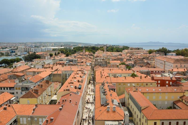 Zadar główna ulica obraz stock