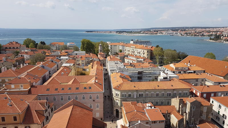 Zadar-Gebäude stockfoto