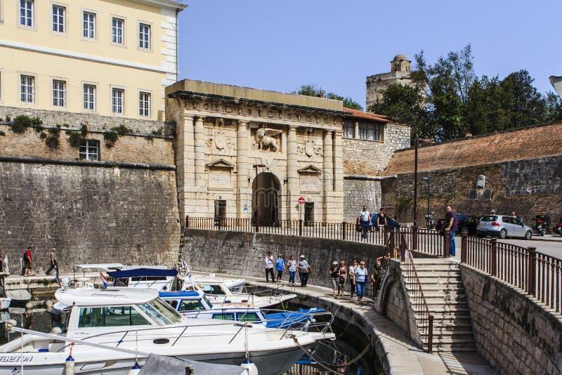 Zadar, Kroatien lizenzfreies stockbild