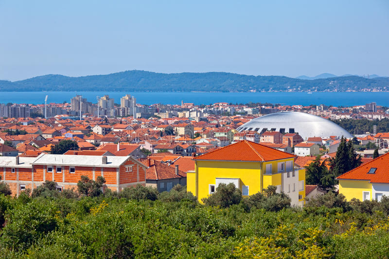 Download Zadar panorama stock photo. Image of roof, coast, hills - 14971230