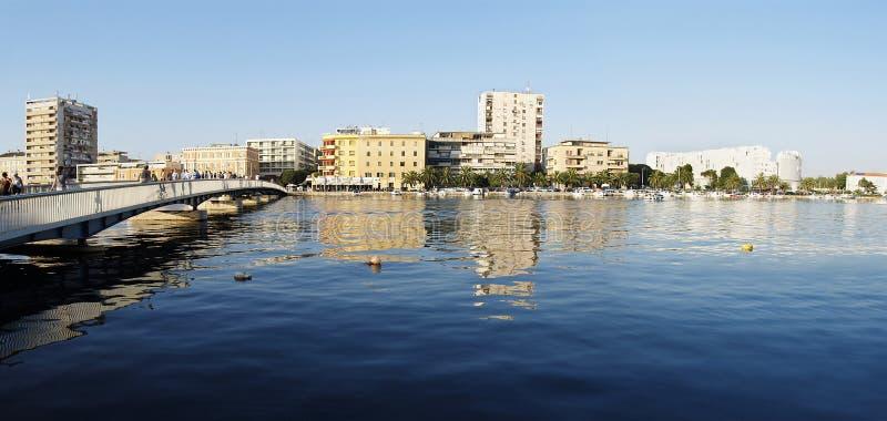 Zadar Panorama stockfotos