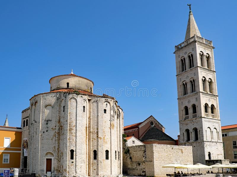 Zadar Roman Catholic Cathedral, Zadar, Croatia royalty free stock image