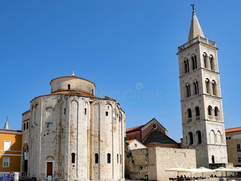 Zadar Rzymskokatolicka katedra, Zadar, Chorwacja obraz royalty free
