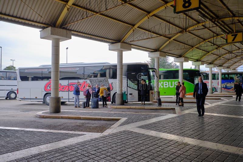 Zadarbusstation stock afbeelding