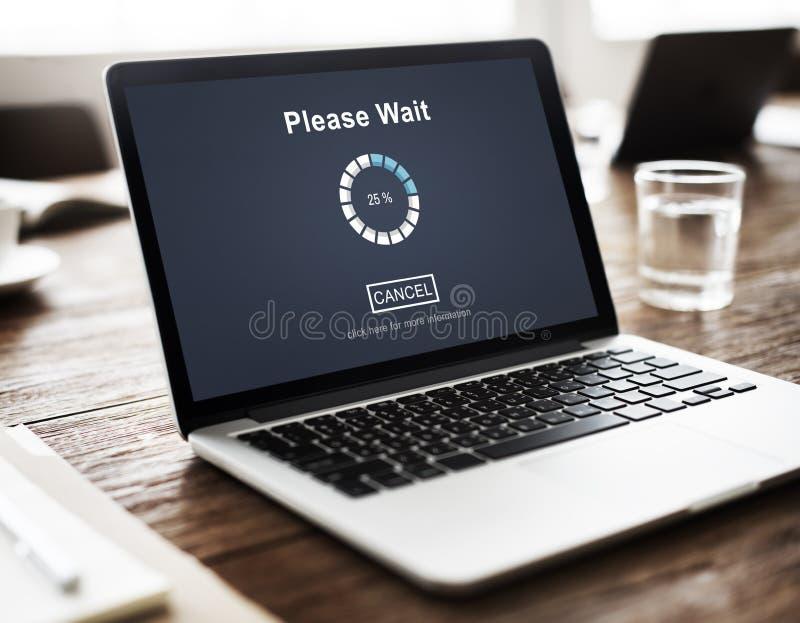 Zadawala czekania Trasfer antycypaci Ładowniczego Czeka pojęcie zdjęcie stock