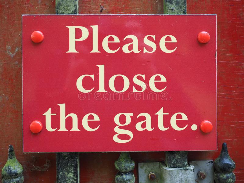 Zadawala zakończenie brama znak fotografia royalty free