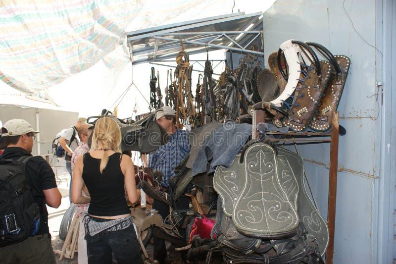 Zadel-bazaar stock foto's