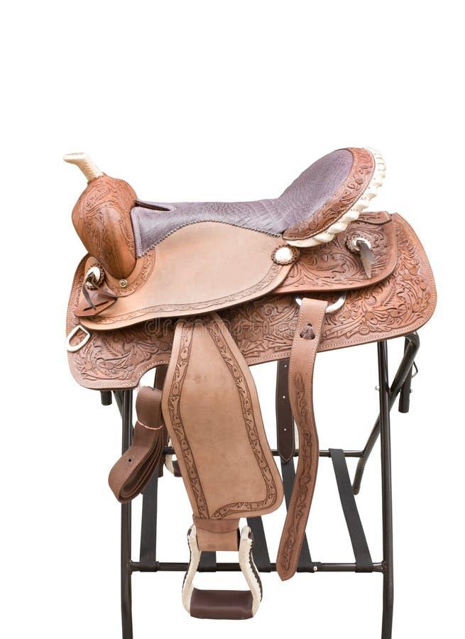 Zadel een paard stock afbeelding