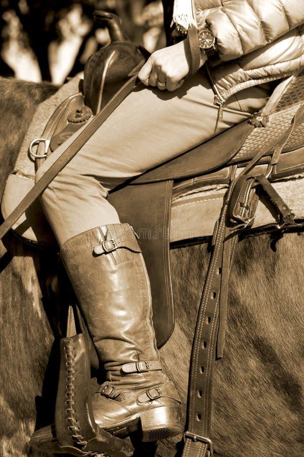 Zadel omhoog in Fort Worth Texas royalty-vrije stock afbeeldingen