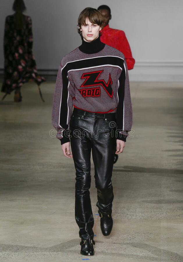 Zadig & Voltaire 2020 Fall Winter Runway Show in New York City stock photo