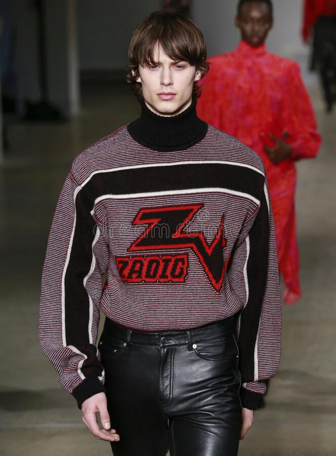 Zadig & Voltaire 2020 Fall Winter Runway Show in New York City royalty free stock photos