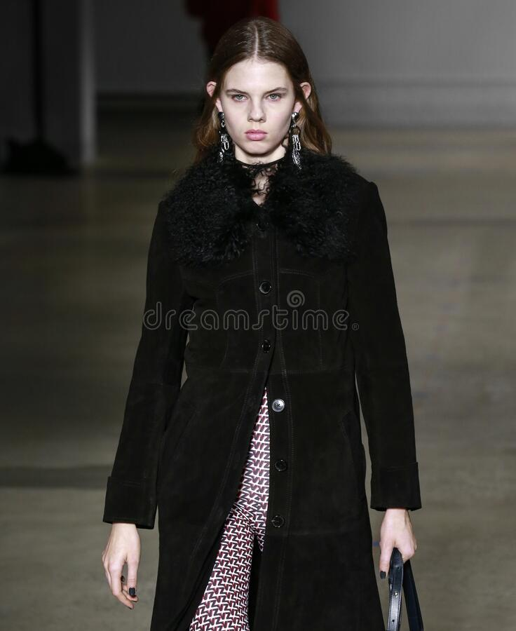 Zadig & Voltaire 2020 Fall Winter Runway Show in New York City royalty free stock image