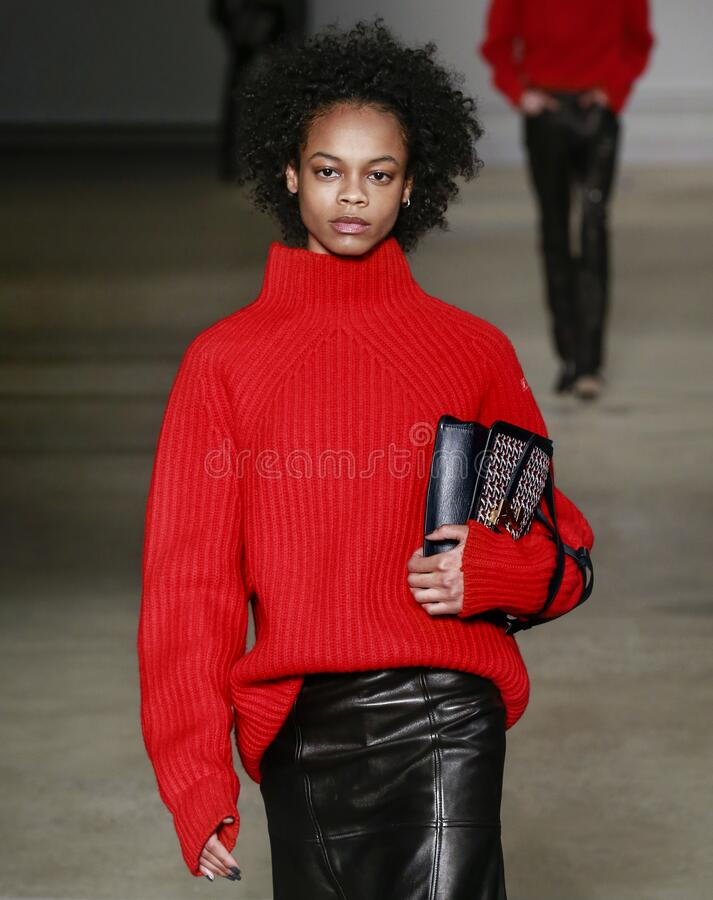 Zadig & Voltaire 2020 Fall Winter Runway Show in New York City stock image