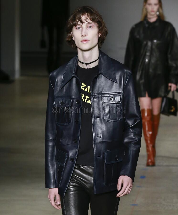 Zadig & Voltaire 2020 Fall Winter Runway Show in New York City royalty free stock images