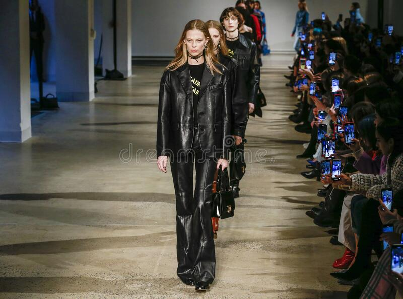 Zadig & Voltaire 2020 Fall Winter Runway Show in New York City stock images