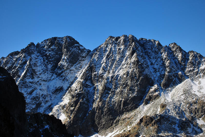 Zadny Gerlach, alto Tatras, Eslovaquia fotografía de archivo
