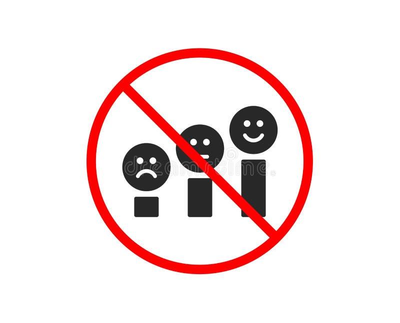 Zadowolenie klienta ikona Pozytywnej informacje zwrotne znak wektor ilustracja wektor