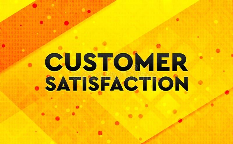 Zadowolenie Klienta sztandaru koloru żółtego abstrakcjonistyczny cyfrowy tło ilustracji