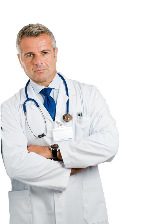 zadowolona lekarki pozycja fotografia stock