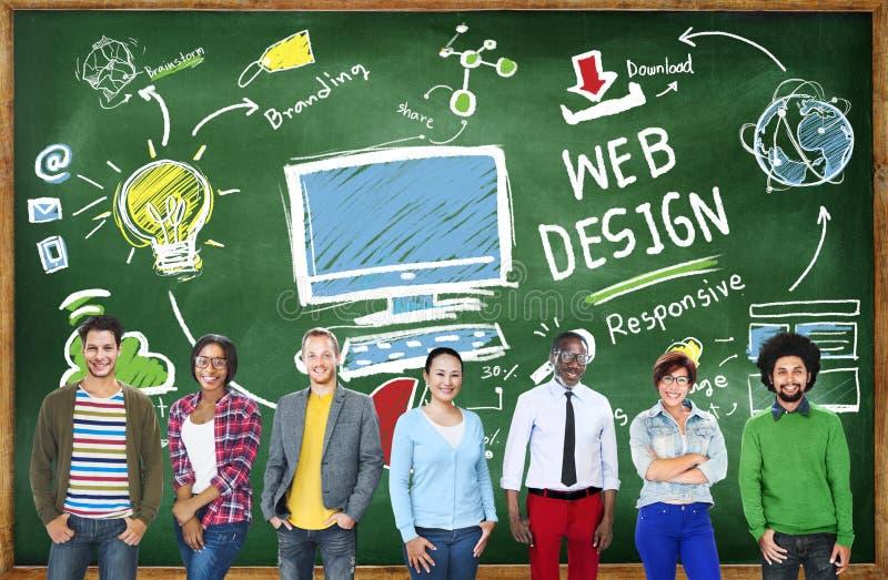 Zadowolonej twórczości układu Webdesign Graficzny pojęcie fotografia royalty free