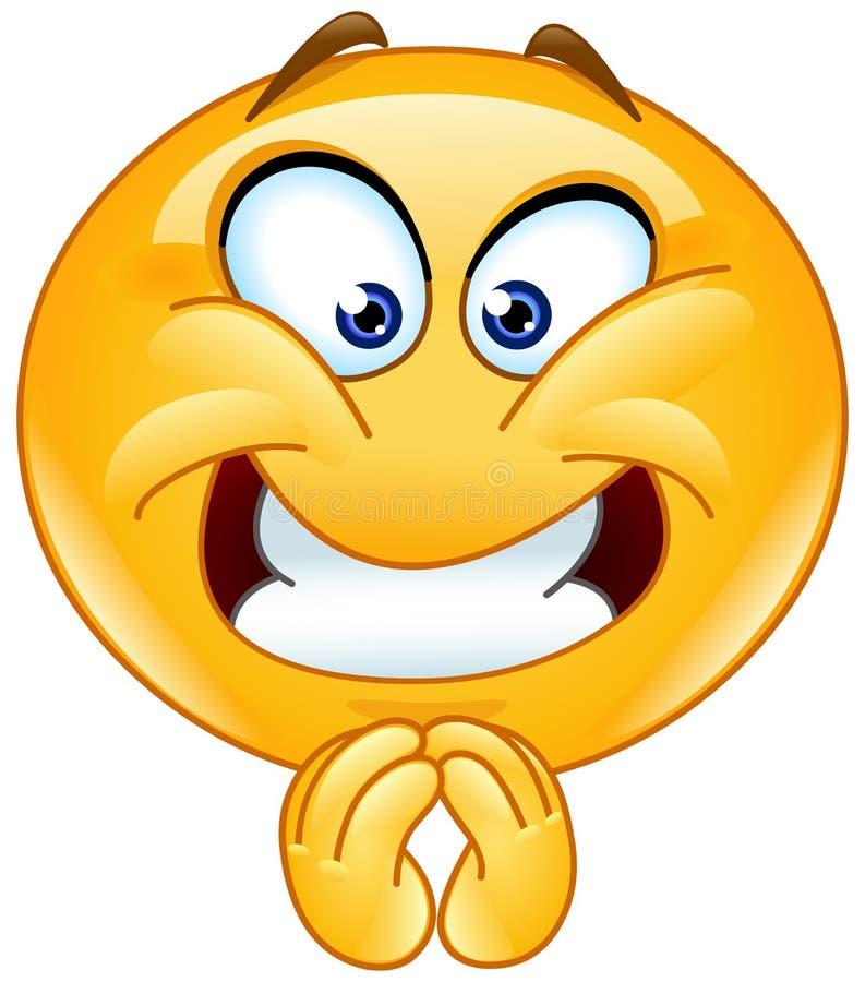 Zadowolony emoticon ilustracji