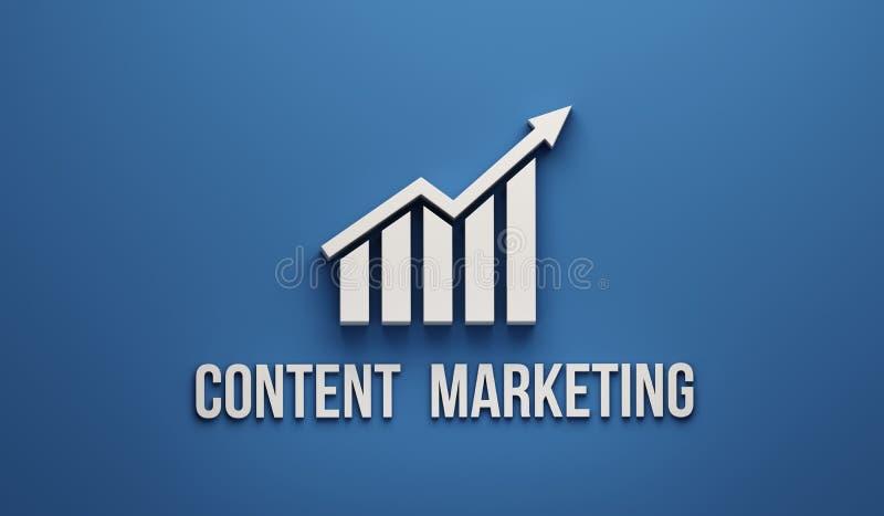 Zadowolony Marketingowy przyrosta bar ilustracja 3 d, ilustracja wektor