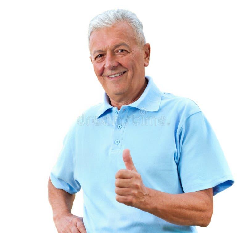 Zadowolony senior zdjęcia stock