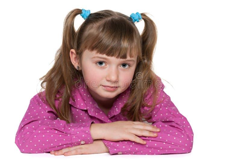Zadumana dziewczyna zdjęcie royalty free