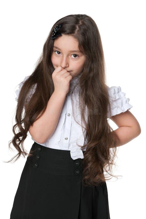 Zadumana mody młoda dziewczyna obrazy stock