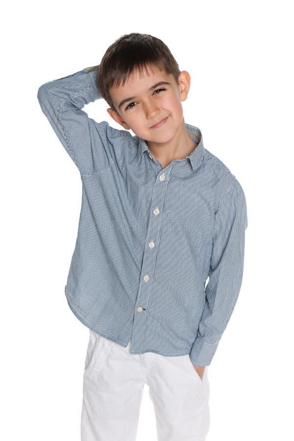 Download Zadumani Chłopiec Potomstwa Zdjęcie Stock - Obraz złożonej z interes, salowy: 41951498