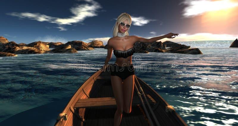 Download Zadumany Portret Chimeryczność Zdjęcie Stock - Obraz złożonej z wodniactwo, adventurer: 53778178