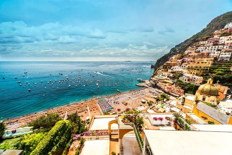 Zadziwiać Amalfi wybrzeże zdjęcia royalty free