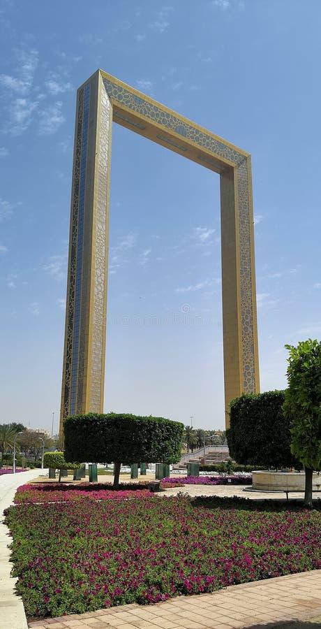 Zadziwiać Dubaj ramę obraz royalty free