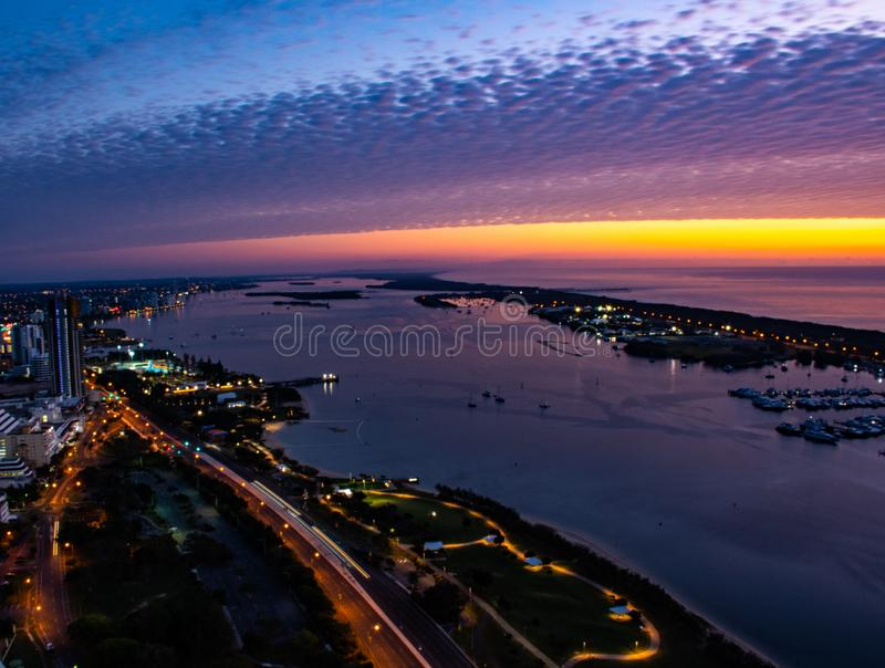 Zadziwiać kolory w wschód słońca zdjęcia royalty free