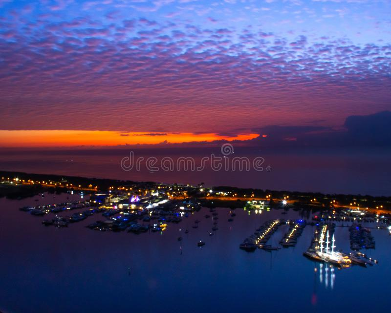 Zadziwiać kolory w wschód słońca fotografia stock