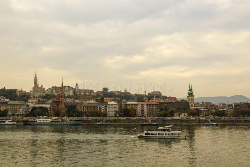 Zadziwiać krajobrazy Budapest, widoki Węgry obraz stock