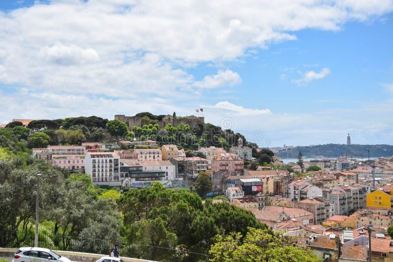 Zadziwiać Lisabon naturę w jeden miejscu i miasteczko fotografia royalty free
