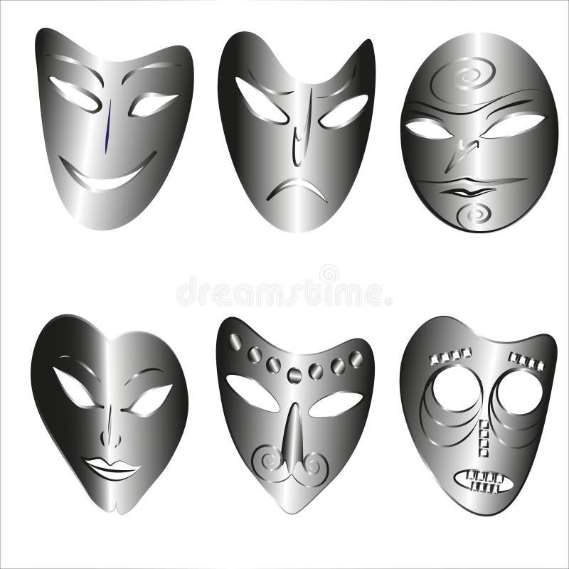 Zadziwiać maski royalty ilustracja