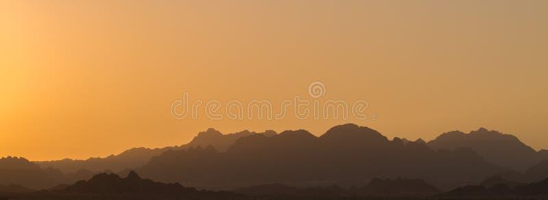Zadziwiający wschód słońca przy Synaj górą zdjęcie stock