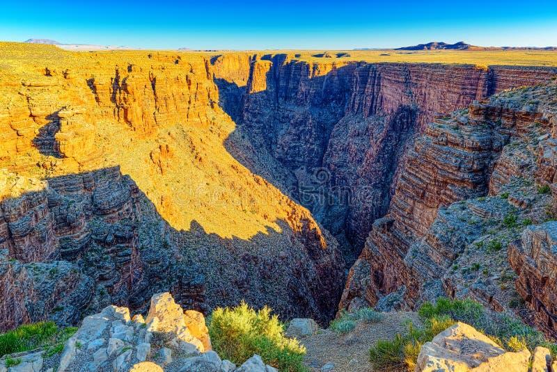 Zadziwiająca naturalna geological formacja - Kończy część Grand Canyon w Arizona zdjęcie royalty free