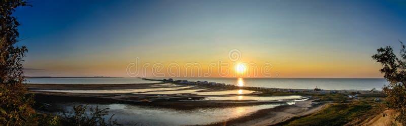 Zadziwiająca panorama Czarny morze w wiosce Kurotne zdjęcie royalty free