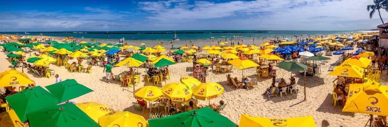 Zadziwiająca plaża blisko Maceio, Brazylia zdjęcie royalty free